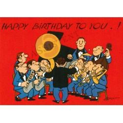 "Postkarte ""Loriot - Happy Birthday Big Band"""