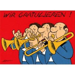 """Postkarte Loriot """"Wir gratulieren"""""""