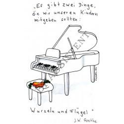 """Postkarte """"Wurzeln & Flügel"""""""