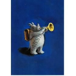 """Postkarte """"Der Nashornist"""""""